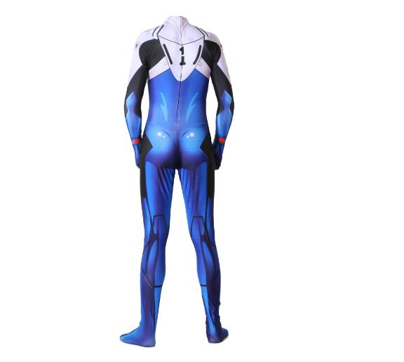 EVA Evangelion Shinji Cosplay Costume Lycra Superhero Halloween Bodysuit Jumpsuits Zentai Suis 1 - Evangelion Merch