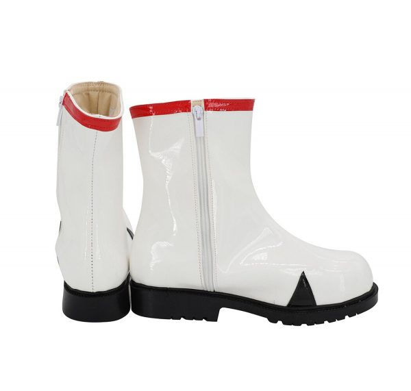 EVA Rei Ayanami Cosplay Boots White Leather Shoes Custom Made Any Size 2 - Evangelion Merch