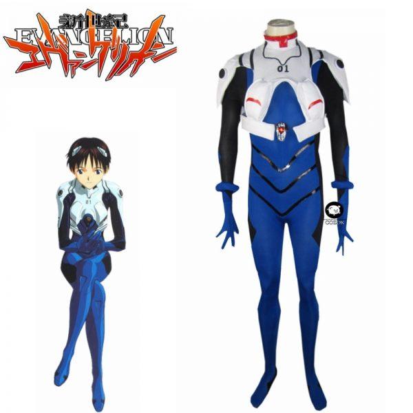 Ikari Shinji EVA 01 Test Type Meisters Battle Suit Cosplay Costume Custom Halloween Christmas Uniform Custom - Evangelion Merch