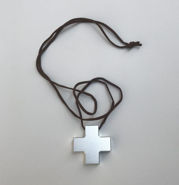 JP Anime Shin Seiki EVA Katsuragi Misato Cosplay Cross Pendant Metal Alloy Necklace - Evangelion Merch