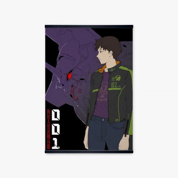 Japanese Anime Wall Pictures For Home Decor Painting Evangelion 02 Pilot Ikari Shinji NERV Cartoon Print - Evangelion Merch