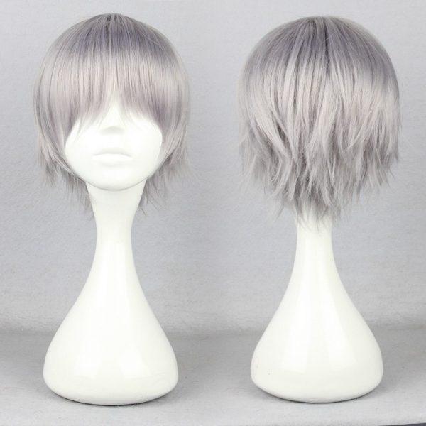 Nagisa Kaworu Hair Neon Genesis Evangelion Hair Nagisa Kaworu Cosplay Hair Gray Mens Neon Genesis Evangelion - Evangelion Merch