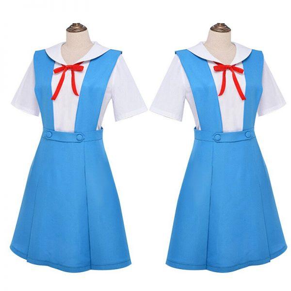 New Anime Evangelion Halloween Women Cosplay Asuka Langley Soryu Tokyo Ayanami Rei Costume Japanese School Jk 1 - Evangelion Merch