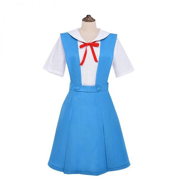 New Anime Evangelion Halloween Women Cosplay Asuka Langley Soryu Tokyo Ayanami Rei Costume Japanese School Jk 4 - Evangelion Merch