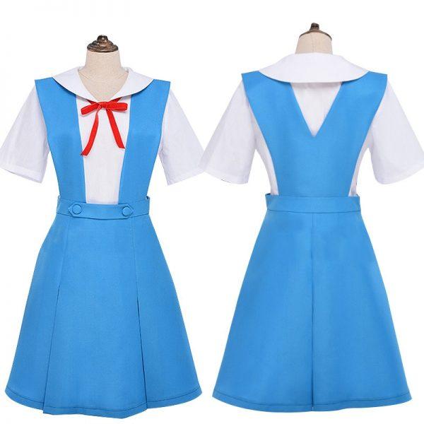 New Anime Evangelion Halloween Women Cosplay Asuka Langley Soryu Tokyo Ayanami Rei Costume Japanese School Jk - Evangelion Merch