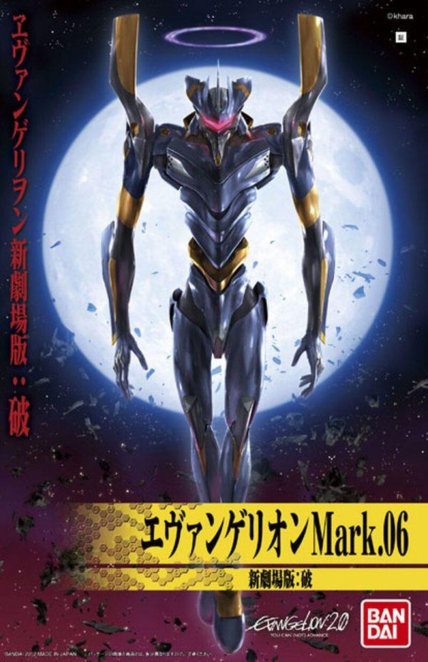 Original BANDAI Gundam Mark 06 EVA 06 Ver Anime Evangelion Assembled Robot Model Kids Action Figure 5 - Evangelion Merch