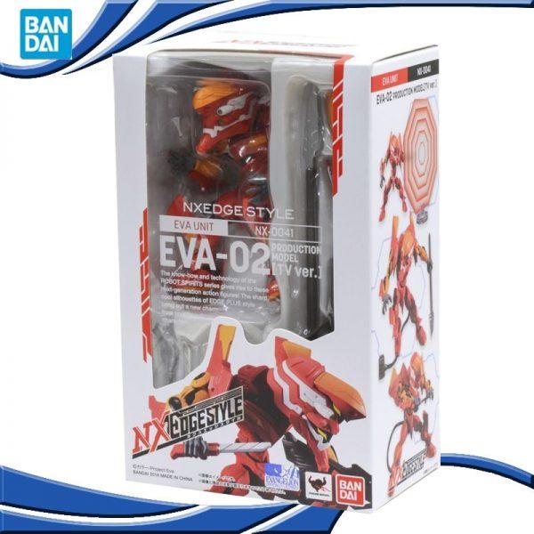 Original TAMASHII NATIONS BANDAI NX 0041 EVA 02 Ver Anime Evangelion SHF Robot Model Kids Action - Evangelion Merch