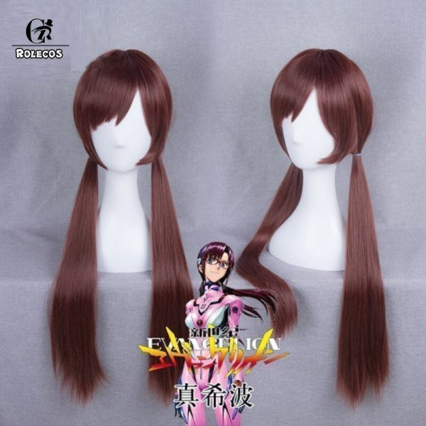ROLECOS Anime EVA Cosplay Makinami Mari Wigs Long Red brown Heat Resistant Synthetic Hair Perucas Cosplay 1 - Evangelion Merch