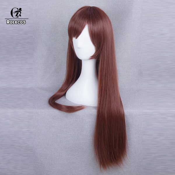 ROLECOS Anime EVA Cosplay Makinami Mari Wigs Long Red brown Heat Resistant Synthetic Hair Perucas Cosplay 2 - Evangelion Merch
