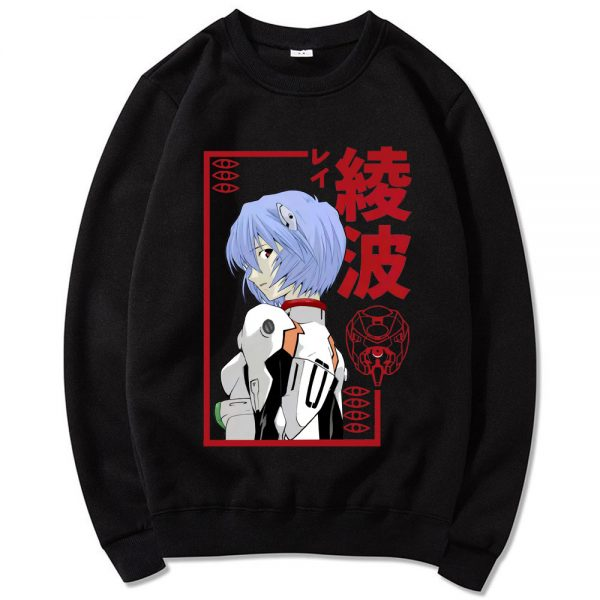 Rei Ayanami Japanese Anime Casual Crewneck Sweatshirts Men s Manga Hipster Sweatshirt Unisex Oversized Sweatshirt Homme - Evangelion Merch