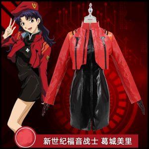 The Anime EVA cos Katsuragi Misato cosplay costume Theater version 2021 - Evangelion Merch
