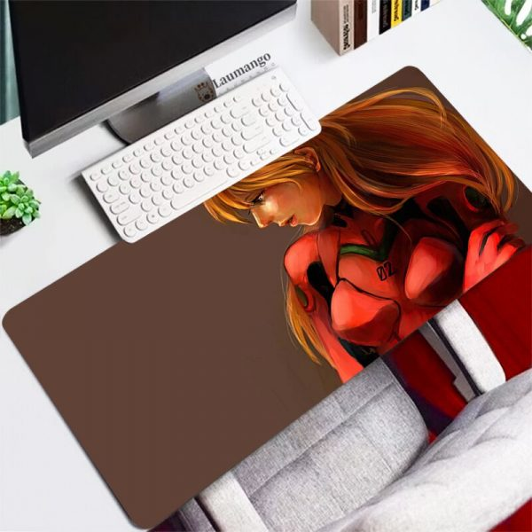 Evangelion Mouse Pad gaming accessories Persian Carpet Large Rubber Speed Laptop Mini Pc Gamer Keyboard Table 2 - Evangelion Merch