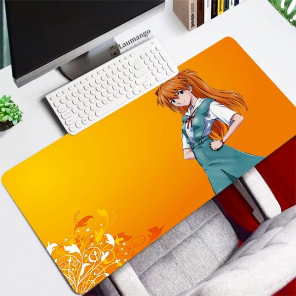 Evangelion Mouse Pad gaming accessories Persian Carpet Large Rubber Speed Laptop Mini Pc Gamer Keyboard Table - Evangelion Merch