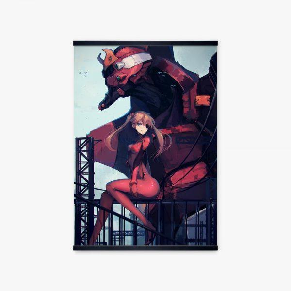 Evangelion Unit 02 Machine Asuka Japan Manga Girls Poster Wall Art Print Canvas Painting Anime Picture - Evangelion Merch