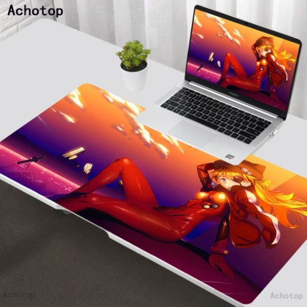 Mouse pad Evangelion Logo Computer Laptop Anime Keyboard Mouse Mat Gaming Large Mouse Pad Keyboards - Evangelion Merch