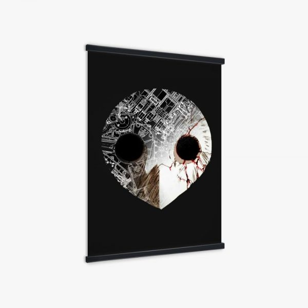 Nordic Anime Poster Evangelion Angel Black Mask Picture Wall Art Canvas Print Painting For Home Decoration 1 - Evangelion Merch