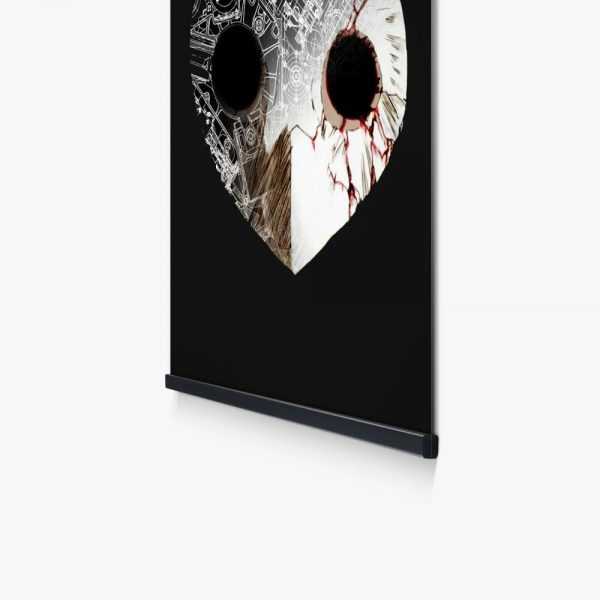 Nordic Anime Poster Evangelion Angel Black Mask Picture Wall Art Canvas Print Painting For Home Decoration 3 - Evangelion Merch