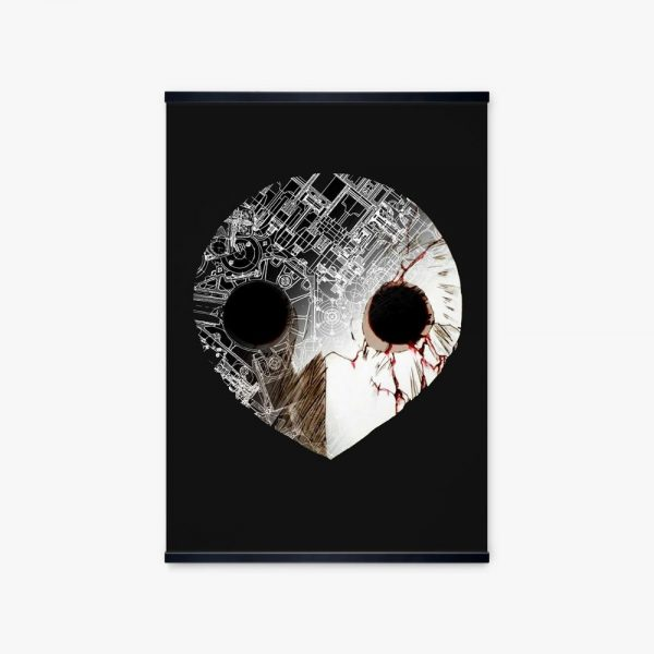 Nordic Anime Poster Evangelion Angel Black Mask Picture Wall Art Canvas Print Painting For Home Decoration - Evangelion Merch