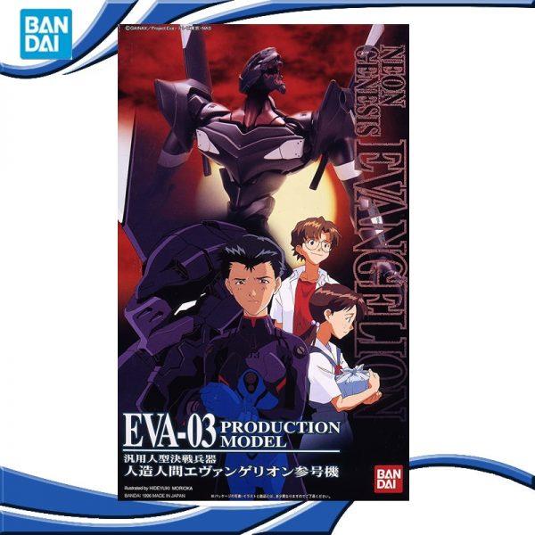 Original BANDAI Gundam EVA 03 HG 005 Ver SET Anime Evangelion Assembled Robot Model Kids Action - Evangelion Merch