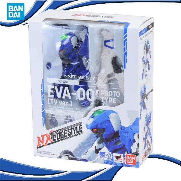 Original BANDAI NX NXEDGE STYLE EVA 00 Ver Anime Evangelion SHF Movable Joint Robot Model Kids - Evangelion Merch