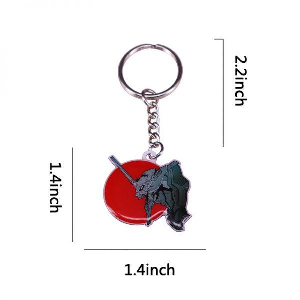 Evangelion EVA 01 Mecha Keychain Red Sun Keyring Feel Japan NGE Anime Series Charms 2 - Evangelion Merch