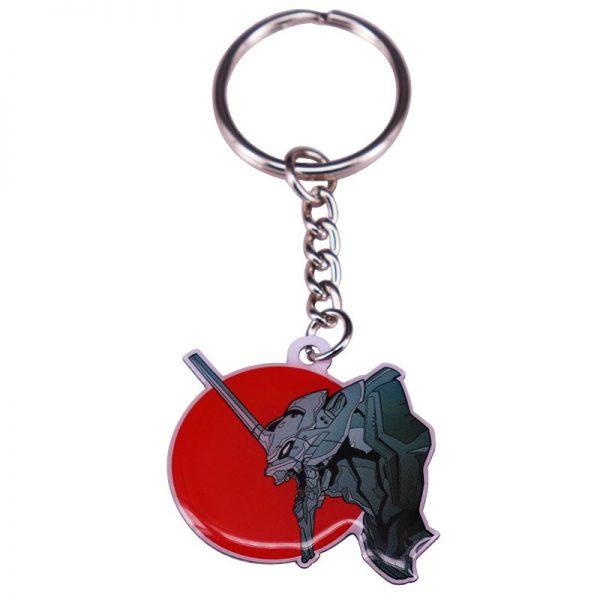 Evangelion EVA 01 Mecha Keychain Red Sun Keyring Feel Japan NGE Anime Series Charms - Evangelion Merch