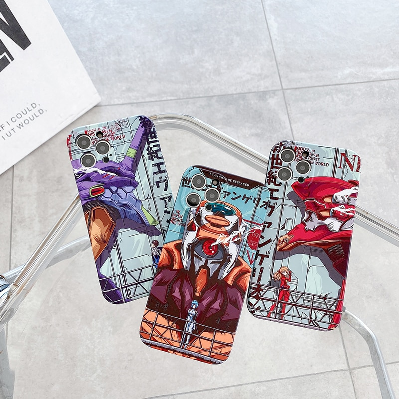 Evangelion Phone Case - Japanese Anime Back Cover Case For iPhone